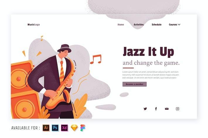 Jazz It Up - Flat Illustration
