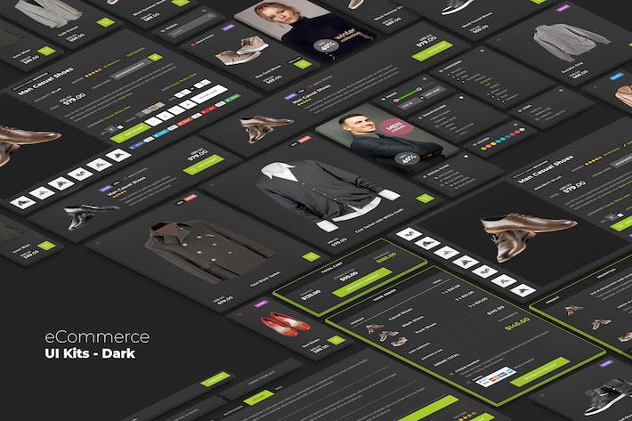 Thumbnail for eCommerce UI kits - Dark Style