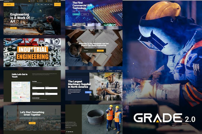 Thumbnail for Grade - Engineering industrial WP Theme
