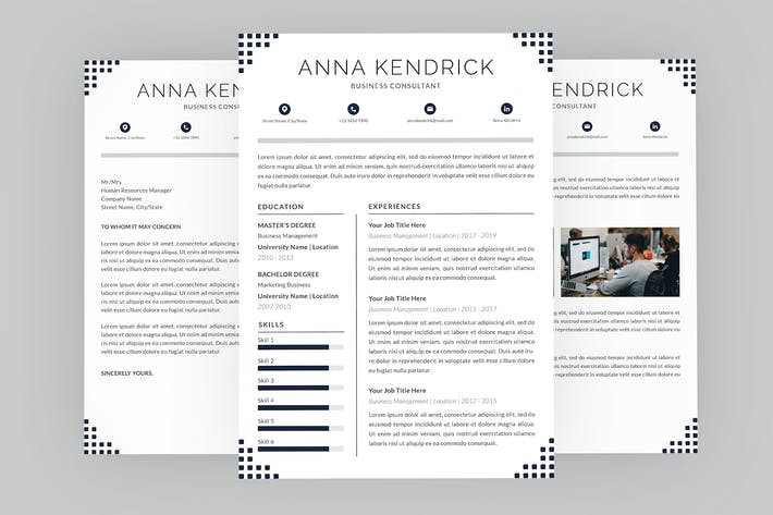 Thumbnail for Consultant Anna Resume Designer