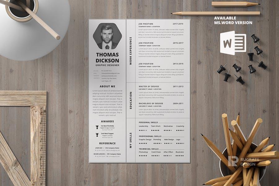 Minimalist CV Resume R7