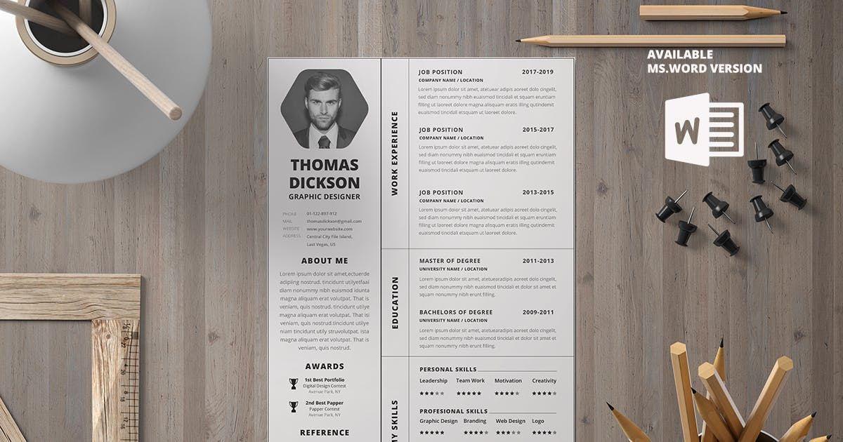 Download Minimalist CV Resume R7 by youwes