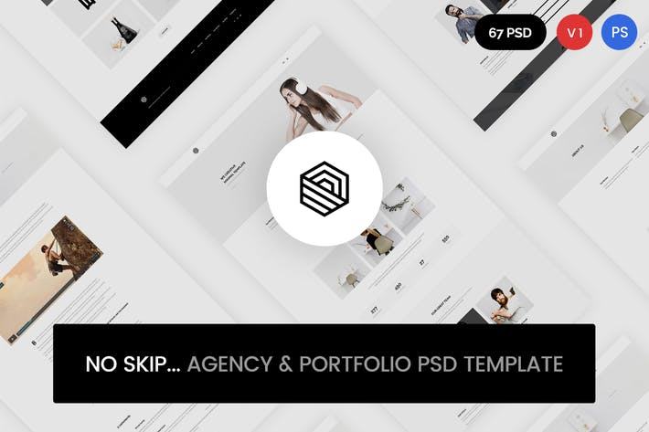 Thumbnail for No Skip - Creative Agency & Portfolio PSD Template