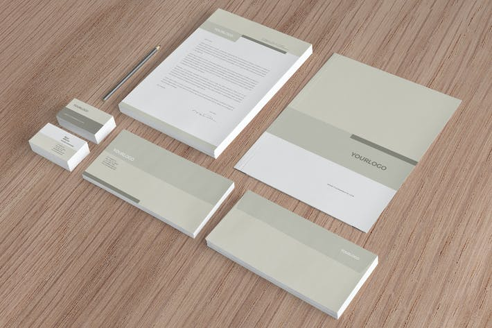Cover Image For Grey Corporate Business Stationery