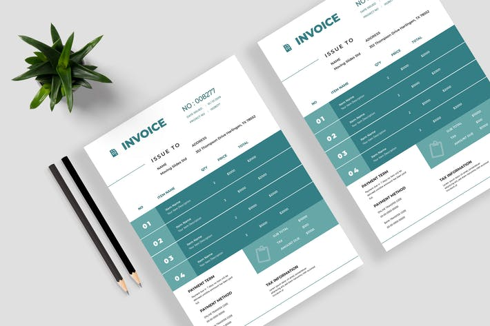 Thumbnail for Minimalist Invoice Template 13