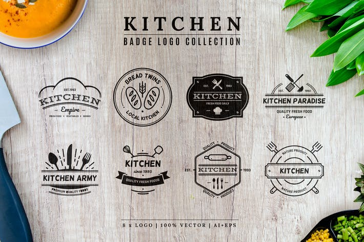 Thumbnail for Kitchen Badge Logo Collection