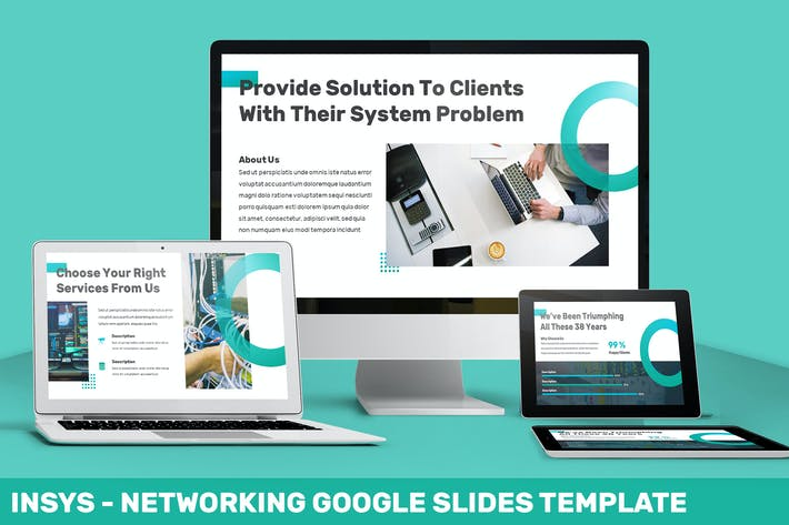Thumbnail for Insys - Networking Google Slides Template
