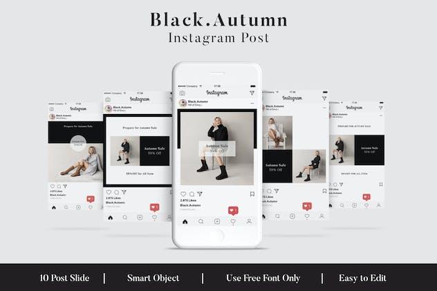 Black . Autumn Social Media Post Vol.1