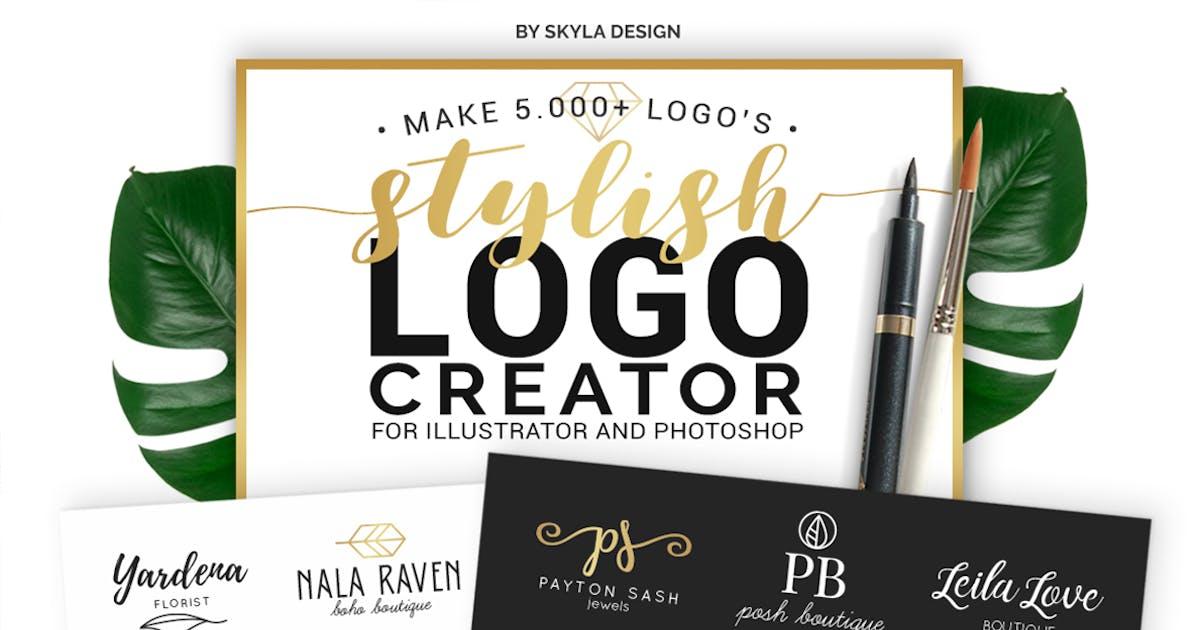 Download Stylish Logo Creator Kit Templates AI + PS by skyladesign