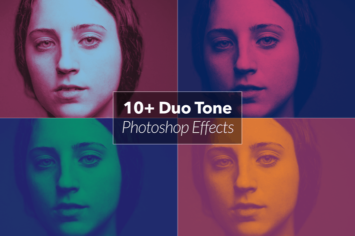 Cover Image For 12 Duotone Photoshop Effects