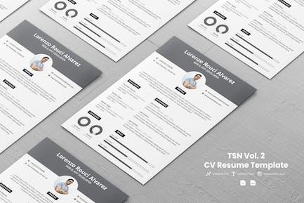 TSN CV Template Vol. 2