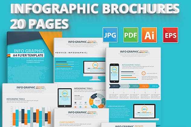 20 Pages Info Graphic Elements Design - product preview 3