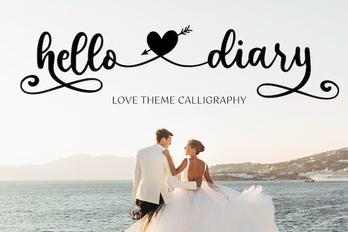 Hello Diary - Love Theme Calligraphy Font