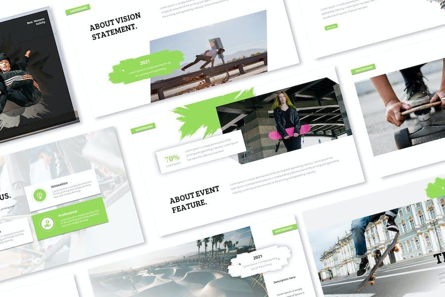 Skateboard Google Slides Presentation Template