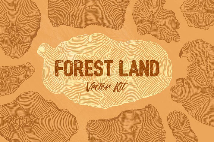 Thumbnail for Forest Land Vector Kit