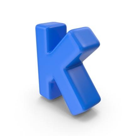 Blauer Buchstabe K