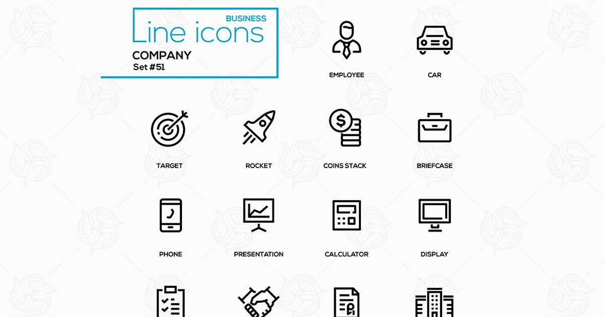 Business concept, company - line design icons set by BoykoPictures