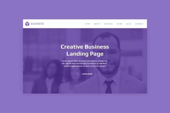 Thumbnail for Business - Premium Hero Banner Web Page Template