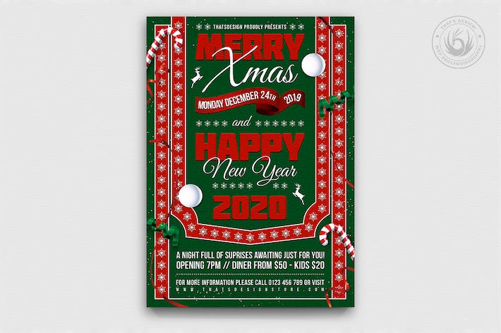 Thumbnail for Christmas Eve Flyer Template V10