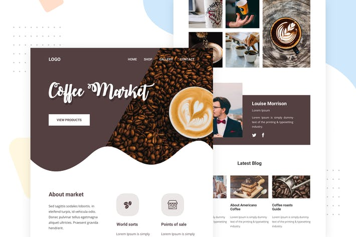 Thumbnail for Coffee shop - Email Newsletter