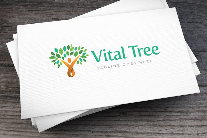 Cover Image For Vital Tree Logo Template