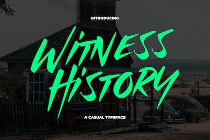 Witness History - Modern & Dramatic Typeface