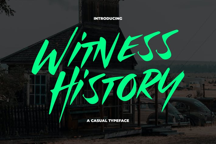 Thumbnail for Witness History - Modern & Dramatic Typeface