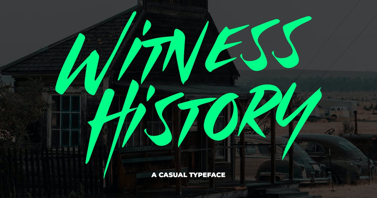 Download Witness History - Modern & Dramatic Typeface by Slidehack