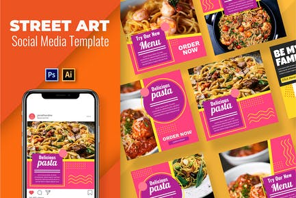 Pasta Vol3 Social Media Template