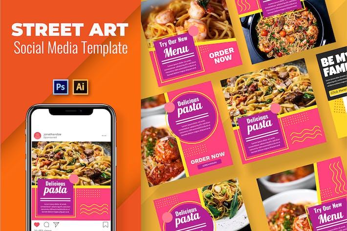 Pasta Vol3 Soziale Medien Vorlage