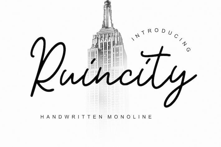 Thumbnail for Ruincity Handwritten Monoline