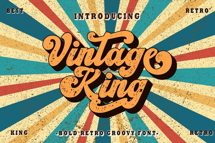 Thumbnail for Vintage King - Fuente retro negrita