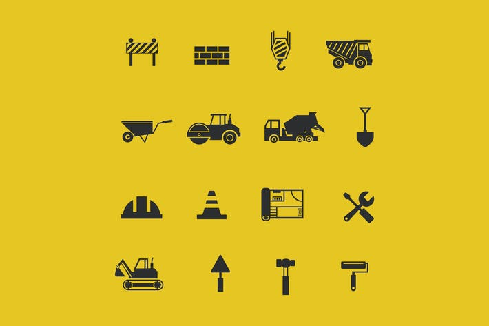 Cover Image For 16 Construction Icons