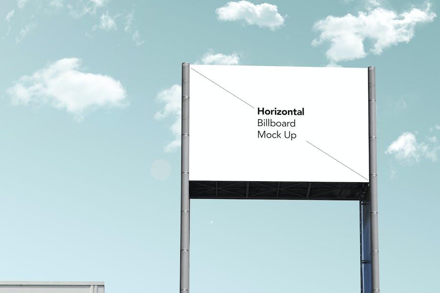 Horizontal Billboard Mock Up