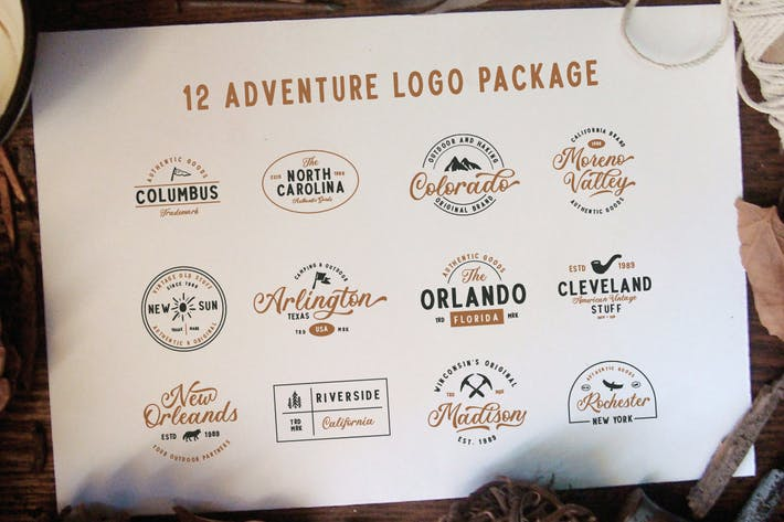 Thumbnail for 12 Adventure Logo Package