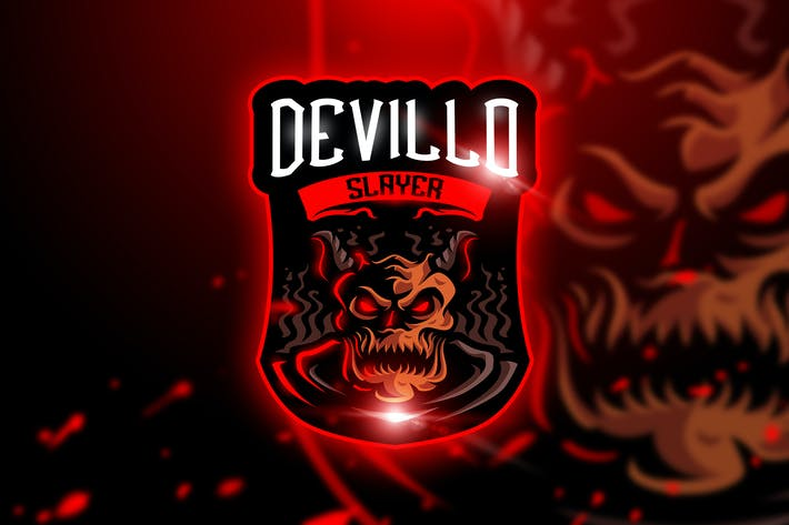 Thumbnail for Devillo Slayer - Mascot & Esport Logo
