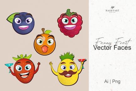 Vektor Lustige Früchte