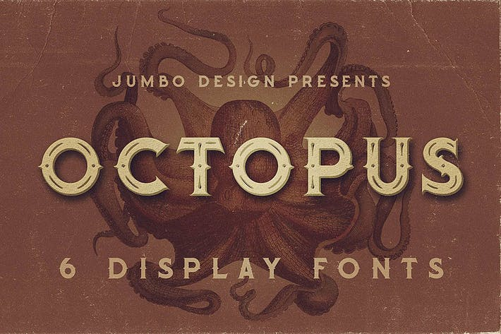 Thumbnail for Octopus - Vintage Style Font