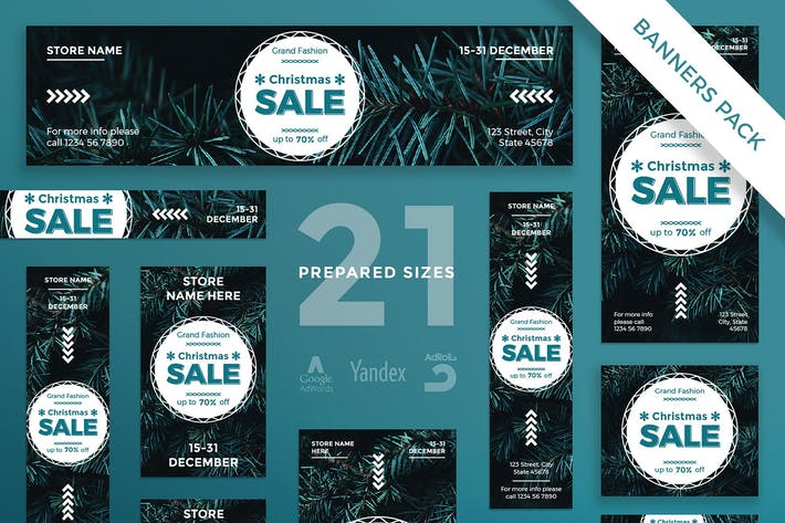 Christmas Sale Banner Pack Template