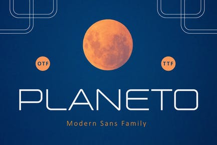 PLANETO futuristic font