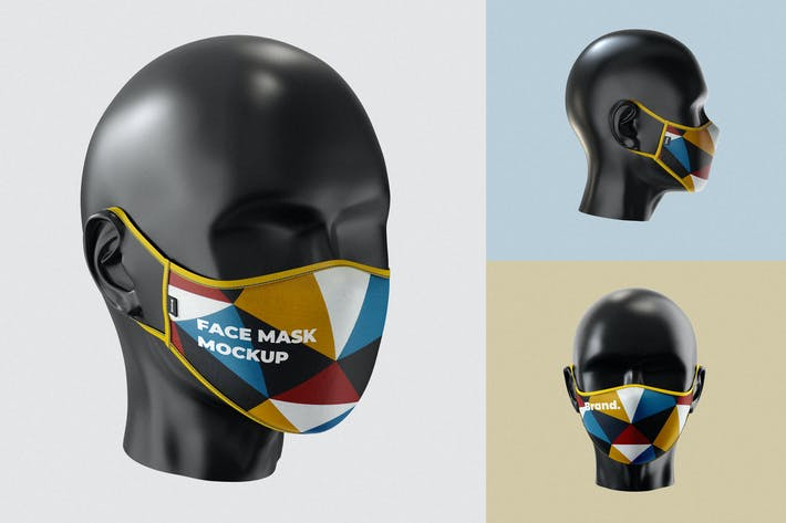 Thumbnail for Face Mask Mockup Template