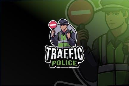 Traffic Police Logo Template