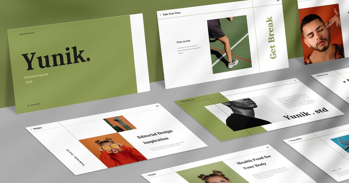 Download Yunik - Creative Powerpoint Template by VisualColony