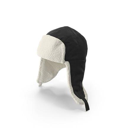 Women's Ear Flap Hat Black