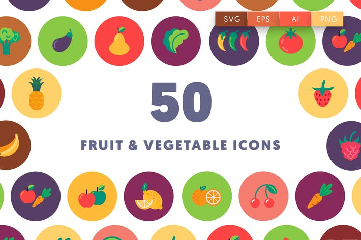Thumbnail for Fruits & Vegetables Icons