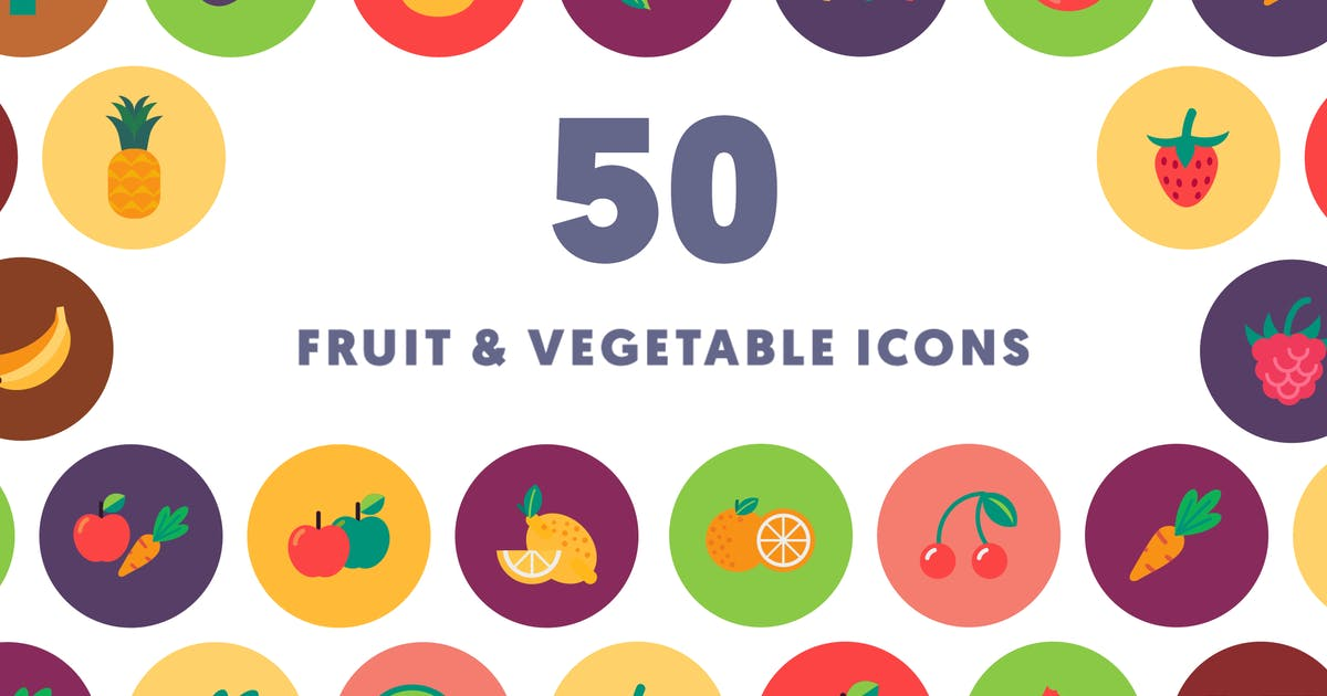Download Fruits & Vegetables Icons by thedighital