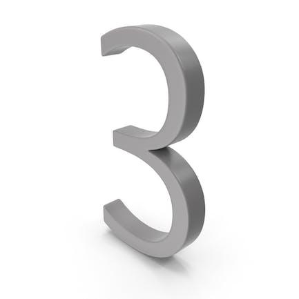Number 3 Grey