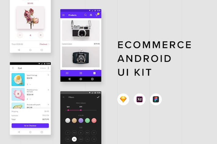 Thumbnail for Электронная коммерция Android UI Kit