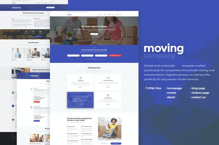 Thumbnail for Moving - Logistic HTML5 Template