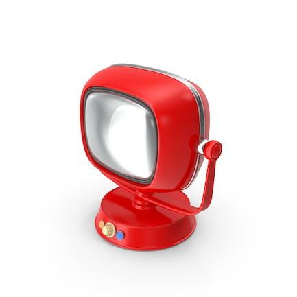 Retro TV Rojo